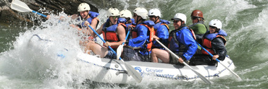 Group Rafting in Montana at Geyser Expeditions